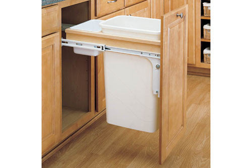 Rev-A-Shelf 4WCTM Series Single 50 Qt Top Mount Trash Pullout - 4WCTM-1550DM-1