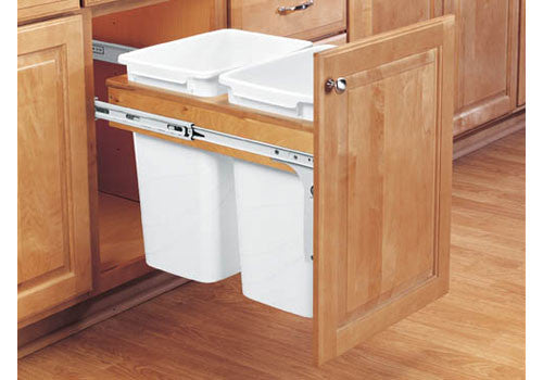 Rev-A-Shelf 4WCTM Series Double 35 Qt Top Mount Trash Pullout - 4WCTM-18DM2