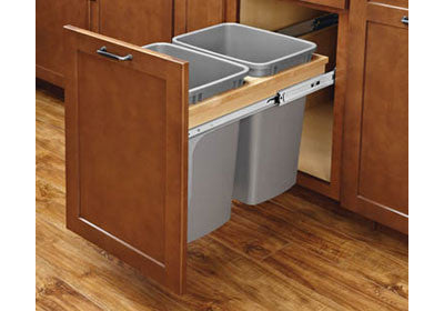 Rev-A-Shelf 4WCTM-BBSC Series Double 35 Qt Soft-Close Top Mount  Trash Pullout - 4WCTM-18BBSCDM2
