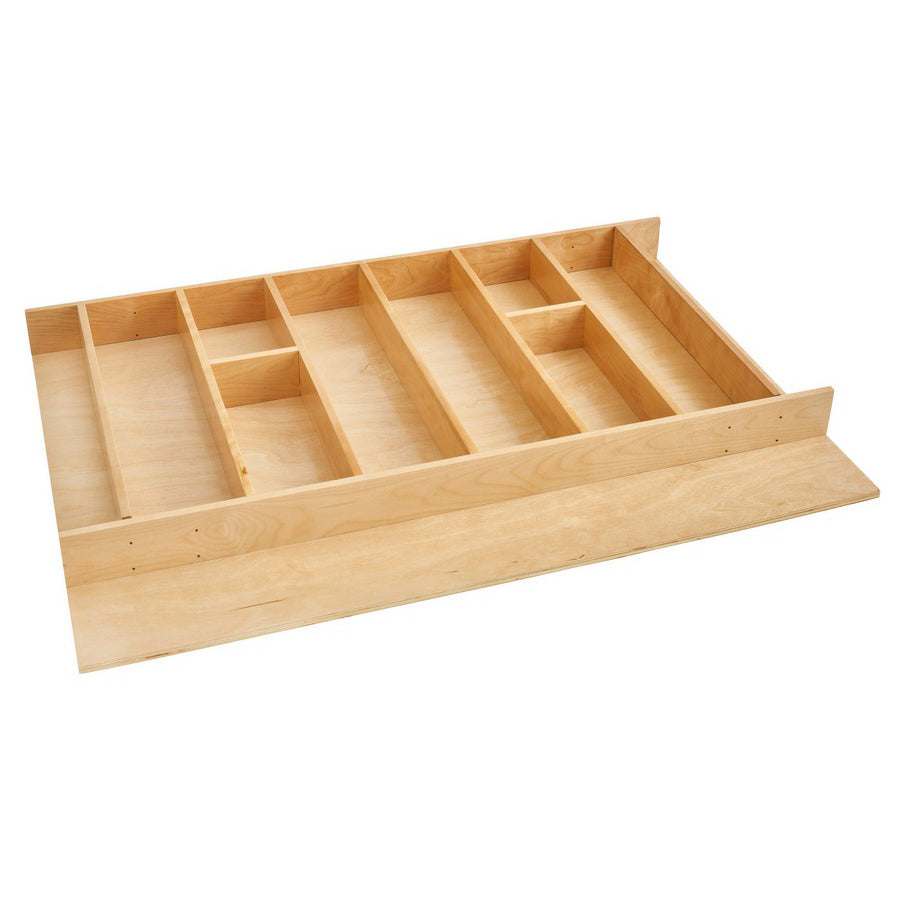 Rev-A-Shelf 4WUT Series Trimmable Wide Wood Utensil Tray Insert - 4WUT-36-1