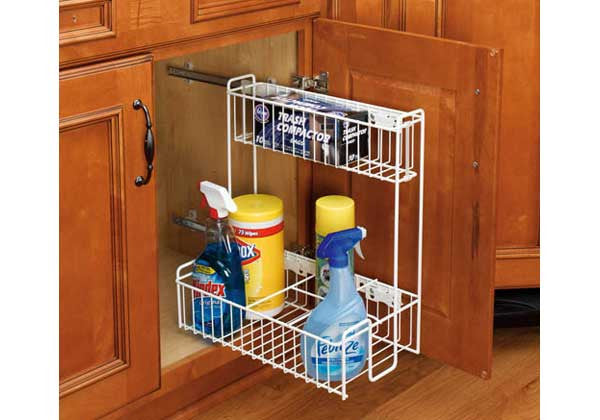Rev-A-Shelf 548 Series Undersink Pullout Organizer - White - 548-10