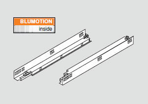 "Blum TANDEM plus BLUMOTION 563H Full Extension Drawer Slide - 15"" - 563H3810B"