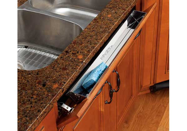 "Rev-A-Shelf 6581 Series 28"" Stainless Steel Sink (Tip-Out) Tray Set - 6581-28-52"