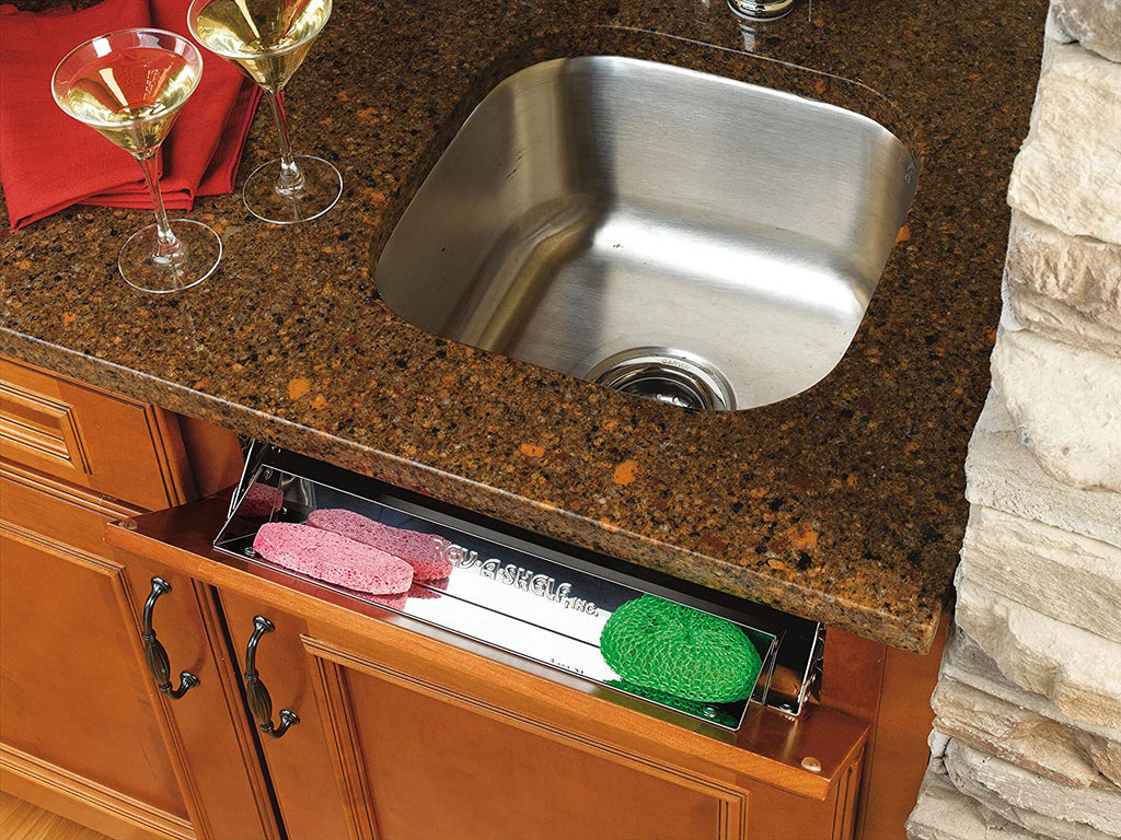 "Rev-A-Shelf 6541 Series 11"" Stainless Steel Slim Sink (Tip-Out) Tray Set - 6541-11-52"