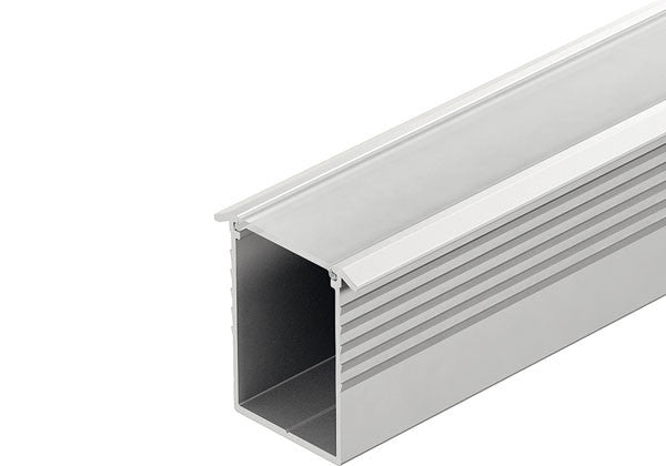 "Hafele Loox Recess Mounted (1"") Aluminum Profile - Milk Cover - 833.74.819"