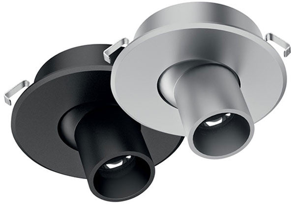 Hafele Loox LED 4012 Recess Mounted Swivel Spotlight - 350mA - Cool White (4000K) - Black - 833.78.052