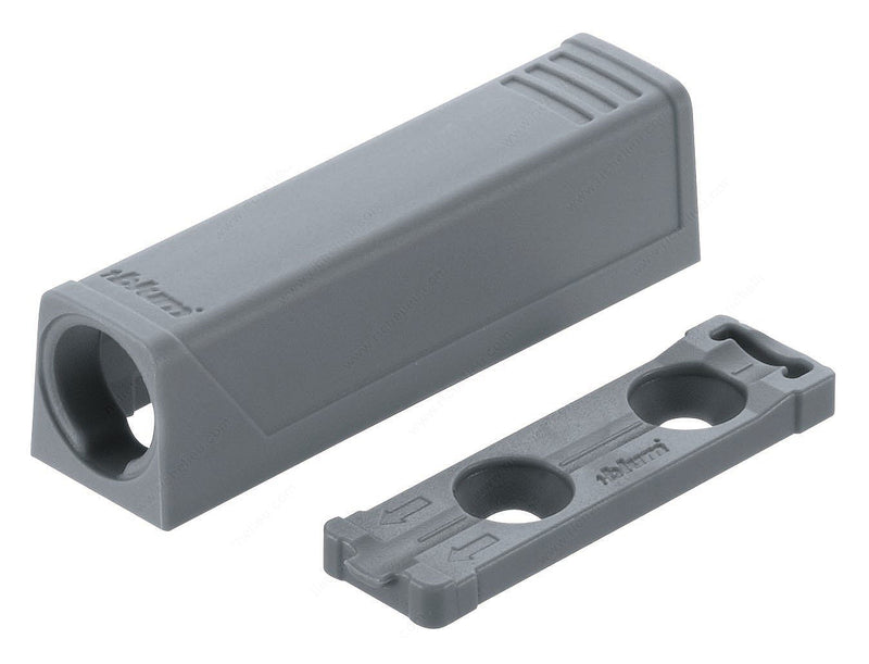 Blum TIP-ON In-Line Adapter Plate for Standard Doors - Gray - 956.1201