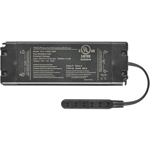 Tresco Commercial Wall Dimmable LED Power Supply - 12VDC 60W - L-DCE60D-CON-1