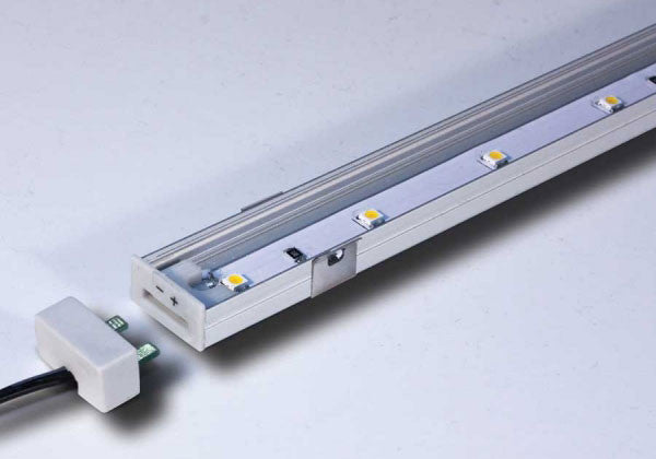 "Tresco SimpLED High Output LED Strip - Warm White - Nickel - 12"" - L-LED-SMP12-WNI-1"