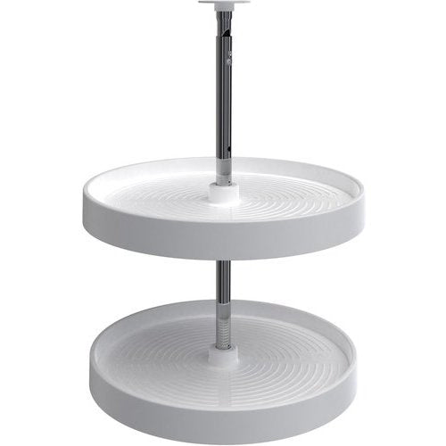 "Rev-A-Shelf Lazy Daisy Full Circle 2-Shelf Lazy Susan Set - White - 18"" - LD-2062-18-11-1"