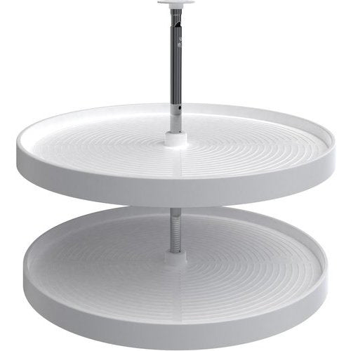"Rev-A-Shelf Lazy Daisy Full Circle 2-Shelf Lazy Susan Set - White - 28"" - LD-2062-28-11-1"