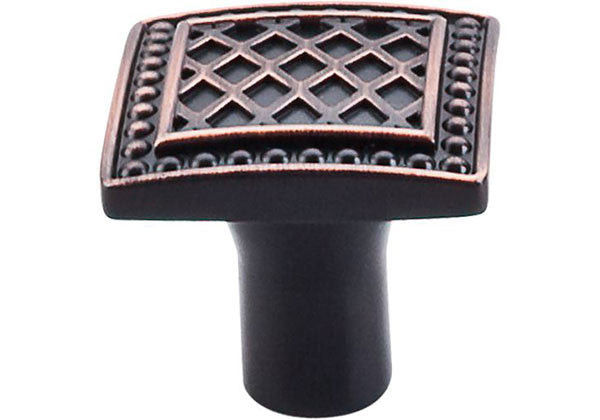 "Top Knobs Trevi Fountain Square Knob 1-1/4"" Tuscan Bronze - TK174TB"
