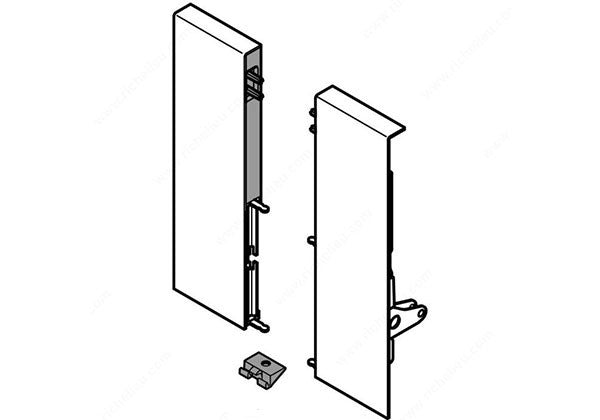 Blum TANDEMBOX Interior Roll-Out Front Fixing Bracket Set - Metal - ZIF.82D0.01
