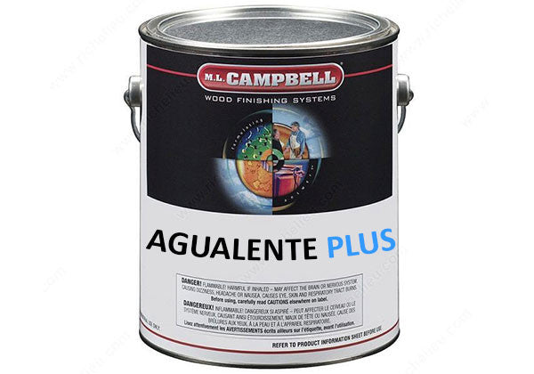 M.L. Campbell Agualente Plus Water Borne Pre-Cat Clear Lacquer - Satin - 1 Gallon - C136354