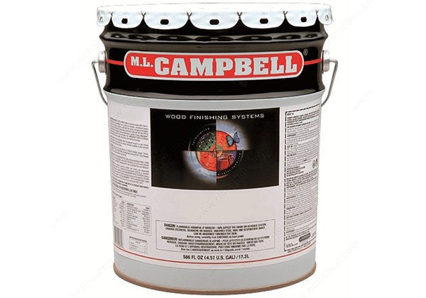 M.L. Campbell Agualente Plus Water Borne Pre-Cat Pigmented Lacquer - White/Opaque - Satin - 5 Gallon - W136254-05