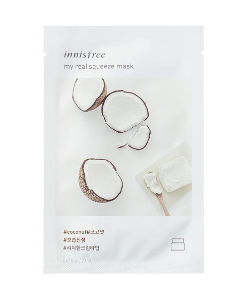 Innisfree My Real Squeeze Mask Sheet Maschere 5 Pezzi - Coconut