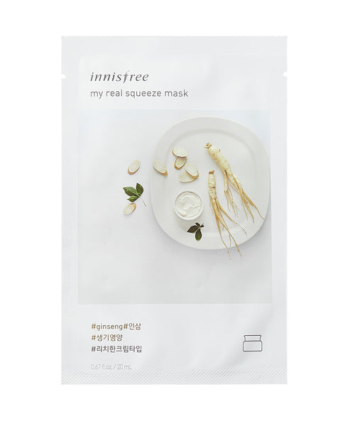 Innisfree My Real Squeeze Mask Sheet Maschere 5 Pezzi - Ginseng