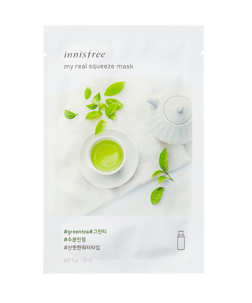 Innisfree My Real Squeeze Mask Sheet Maschere 5 Pezzi - Green Tea