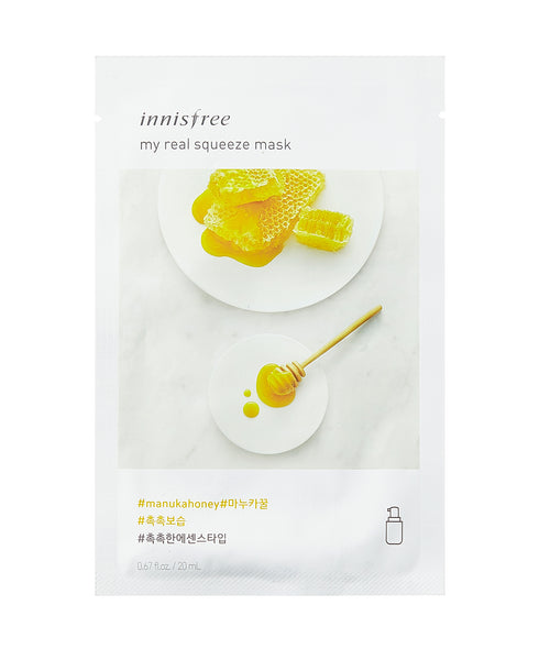 Innisfree My Real Squeeze Mask Sheet Maschere 5 Pezzi - Manuka Honey