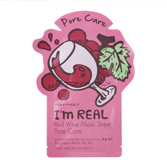 Tony Moly I`m Real Red Wine Mask Sheet – Trattamento pori