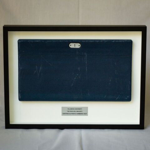 Shadow Box with Upper Level Blue Seat Cover
