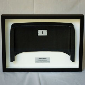 Shadow Box with Black Lower Level Stadium Seat