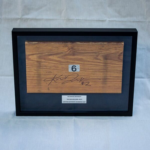 Kris Jenkins Signed Shadow Box with Bleacher Bench Seat