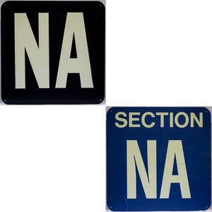 "Section ""NA"" Stadium Sign"