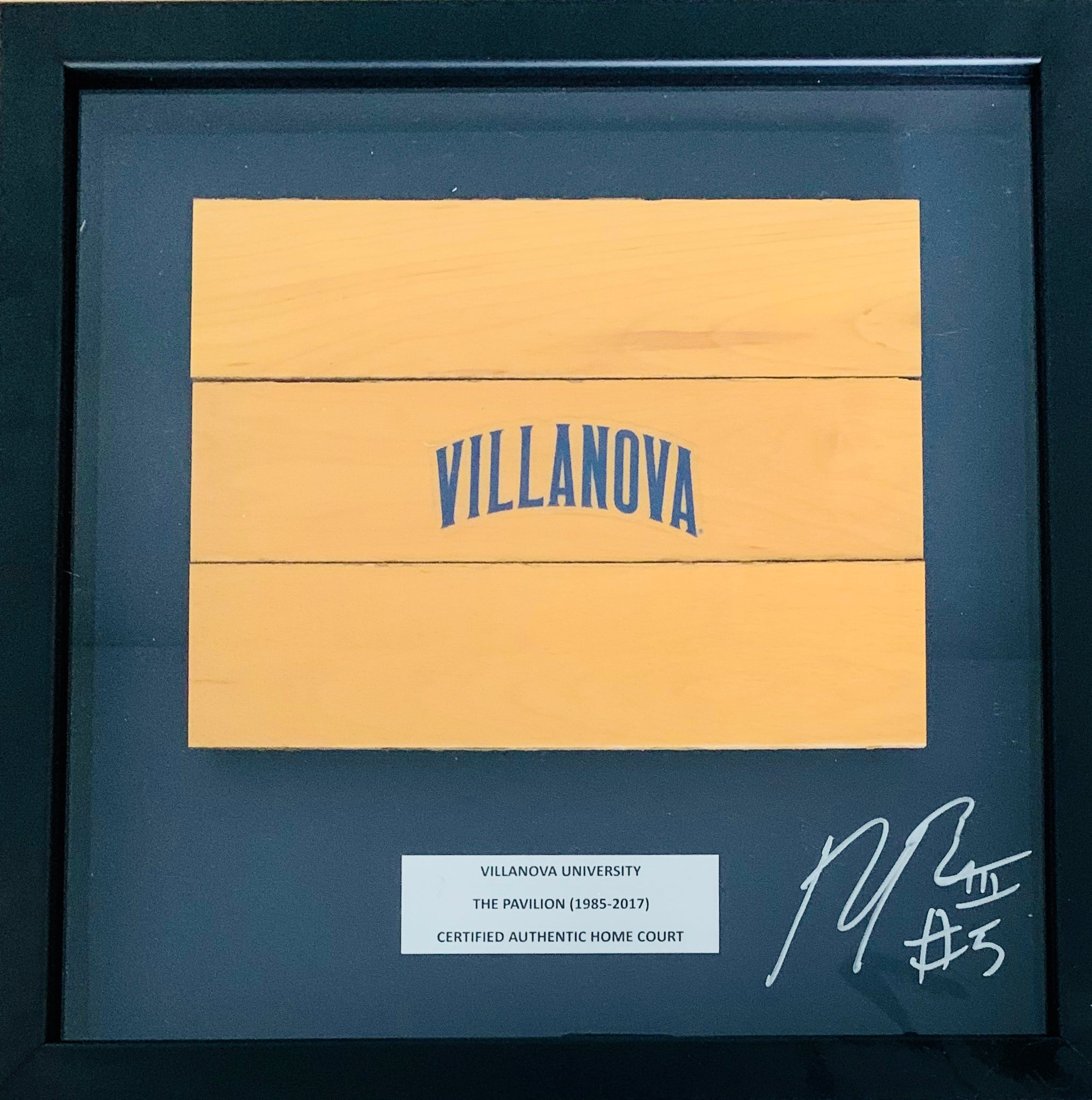 Phil Booth Signed Basketball Court Shadow Box