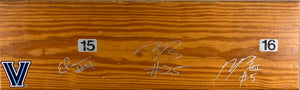 Bleacher Bench Signed by Paschall, Booth and Bridges!