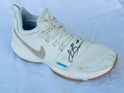 Jalen Brunson Game Worn Signed Sneakers-Butler and Creighton