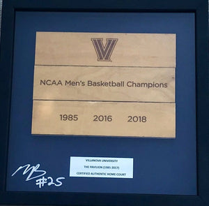 Mikal Bridges Signed NCAA Champs Shadow Box
