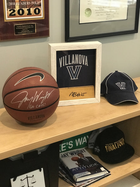 Mikal Bridges Autographed Wood Shadow Box