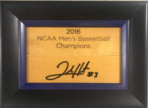 Josh Hart Signed Basketball Court Wood