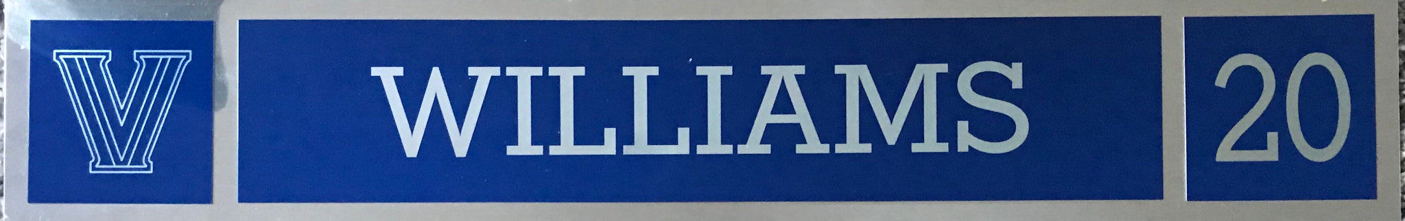 Alvin Williams  Locker Nameplate