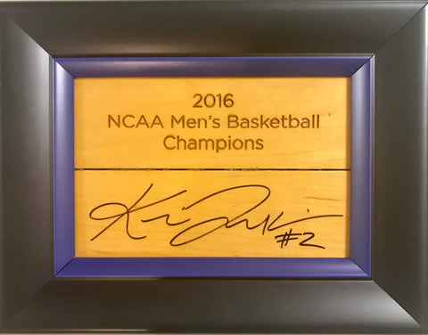 Kris Jenkins Signed Basketball Court Wood