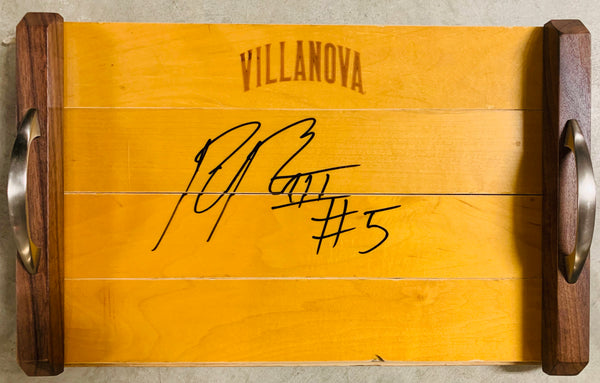 Phil Booth Autographed Basketball Court Wood Tray
