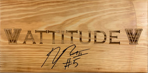 "Phil Booth Autographerd ""ATTITUDE"" Sign"