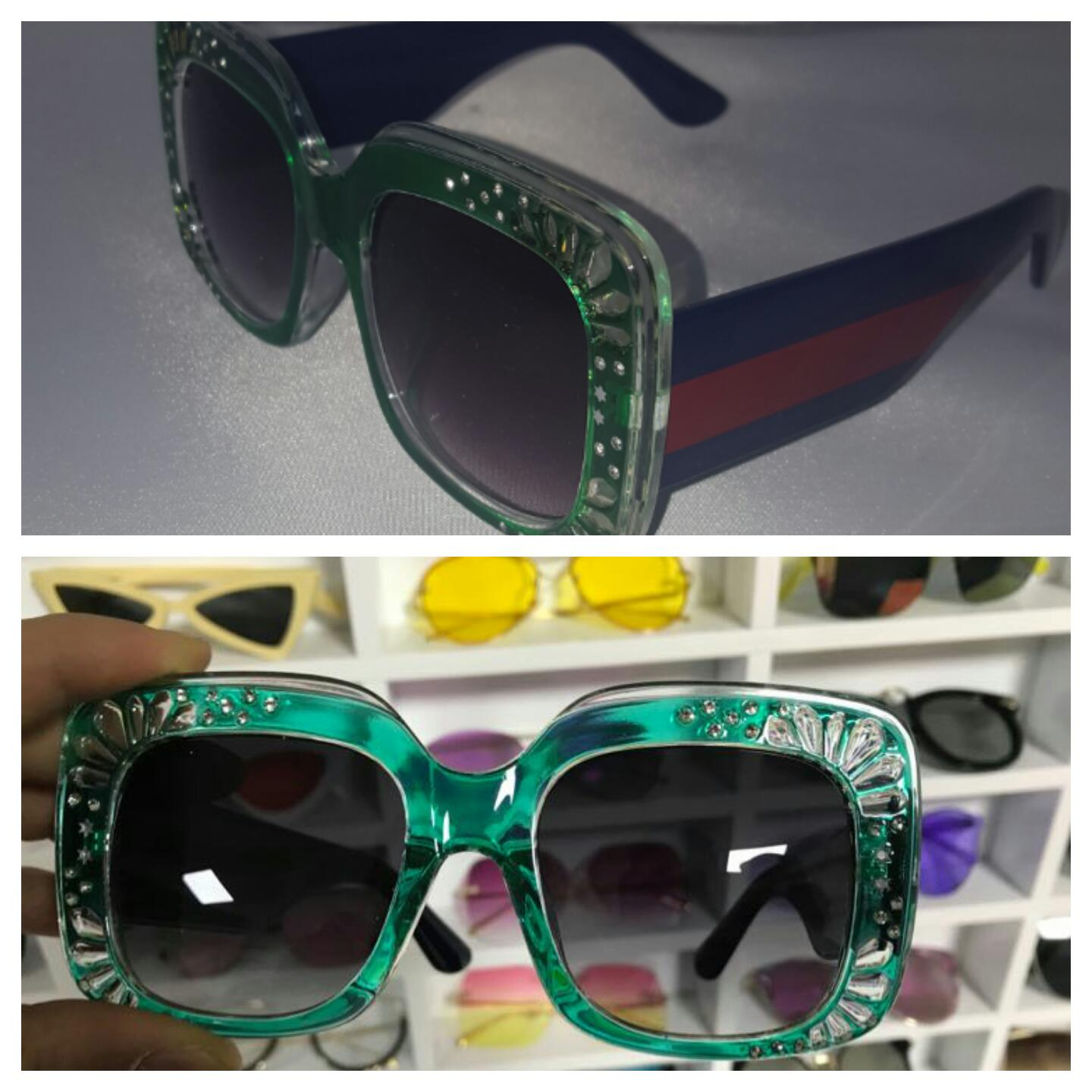Hype Stripe Oversized Sunglasses *CLEARANCE* $8 limited quantities