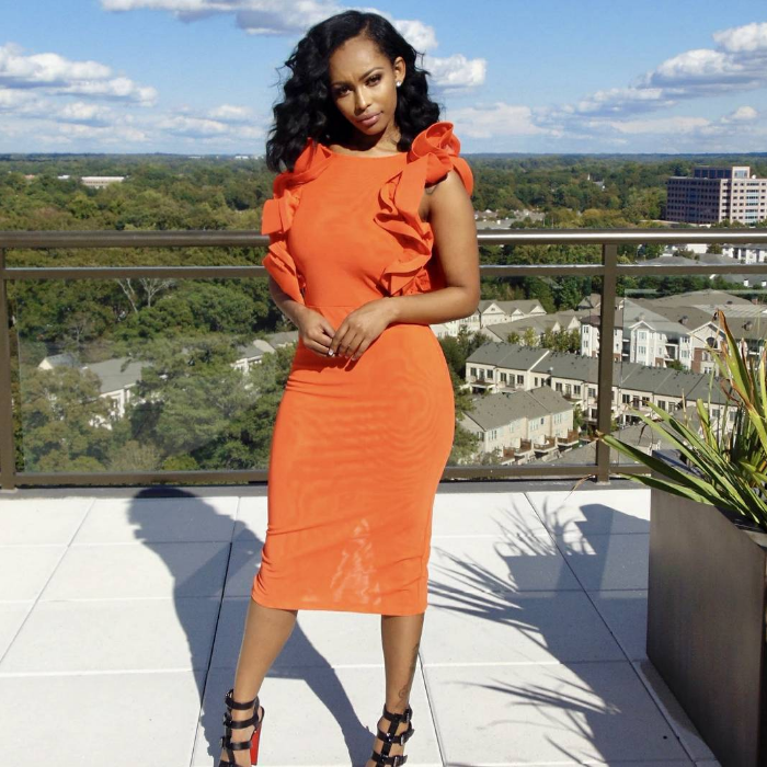 """Orange You Lovely"" major ruffle backless midi-dress- CLEARANCE- over 50% off"