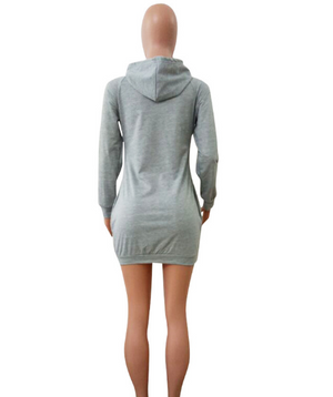 """Sexi Lips"" hooded sweatshirt/ sweat- dress- BLACK FRIDAY SALE"