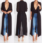 Sheer Long Cardigan Coat Dress - BLACK FRIDAY SALE (1 of each left)