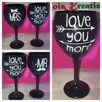 Mr. & Mrs. Candy Coated Goblett set w/ FREE personalization