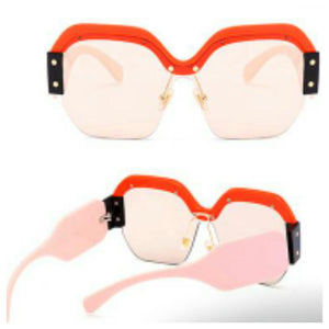 Red Rim & Pink Arm Shades Sunglasses
