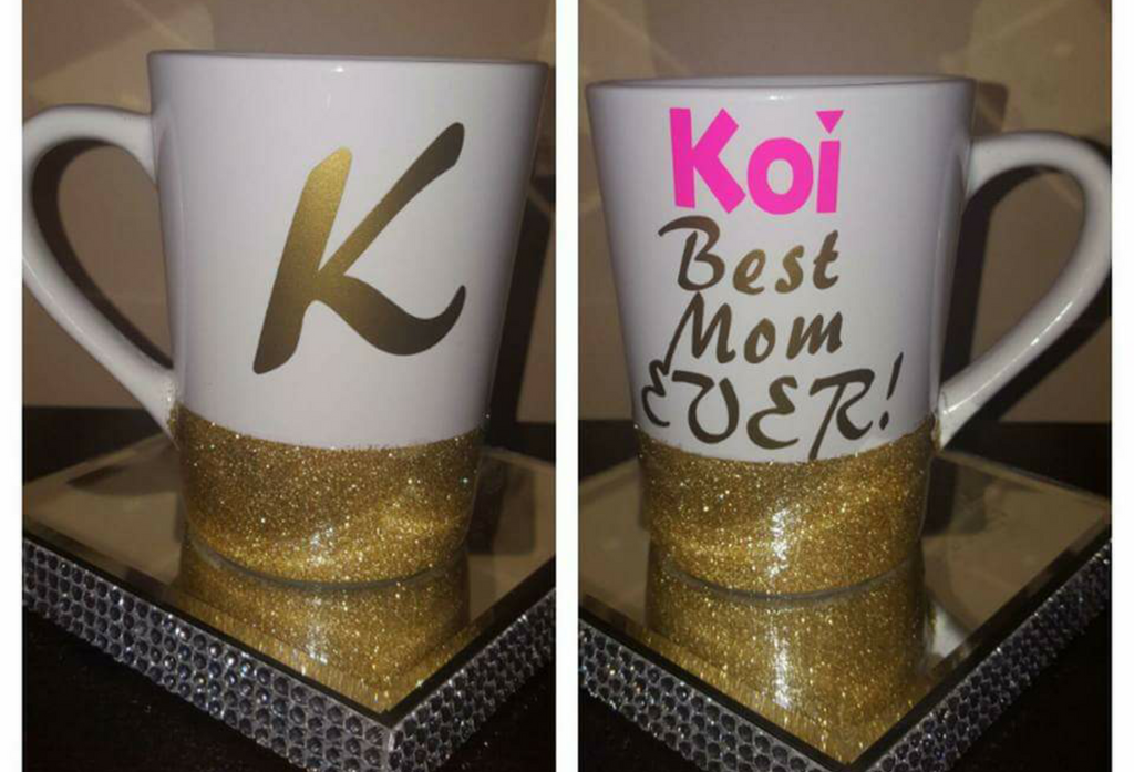 "Personalized ""Best Mom Ever"" Candy Glazed Mugg (14oz)"