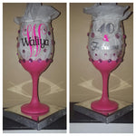 Bling Babe Birthday Gllitter Glazed Stemm'd Sipper