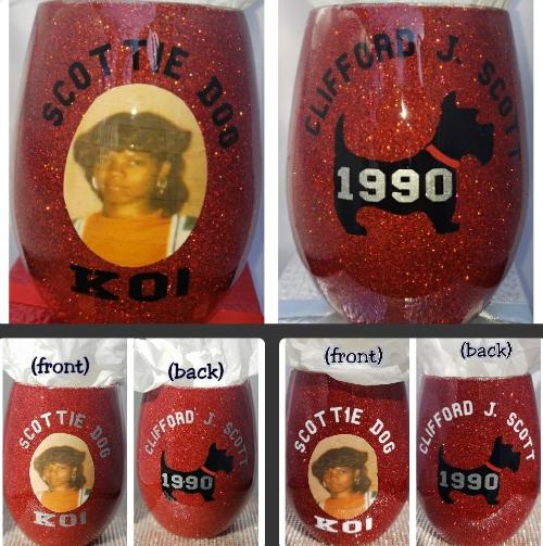 """High School Series"" Candy Coated Personaliz'd w/picture StemLess Sipper (21oz)"