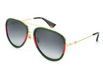 Green & Red OR Leopard Aviator Metaliz'd Sunglasses