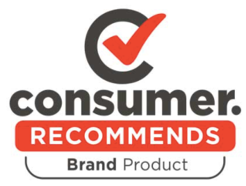 RED AND BLACK CONSUMER NZ LOGO AND RED TICK