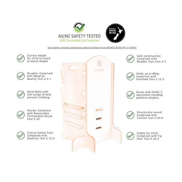 Arc Assistant Learning tower with safety testing details